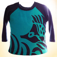 Biggest Fish in the Pond . OOAK Toddler Raglan Shirt