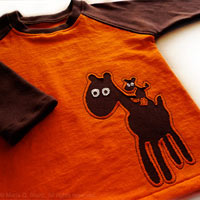 Nacho and Pepe . OOAK Toddler Raglan Tee