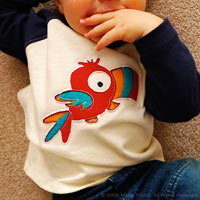 Paco . Kids Raglan Shirt