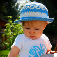 Vueltiaito n.3. A baby hat inspired by the Colombian vueltiao