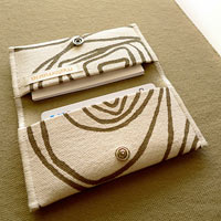 Khaki Spirals Card Holder