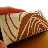 Sienna Rosettes Handprinted Mini Wallet